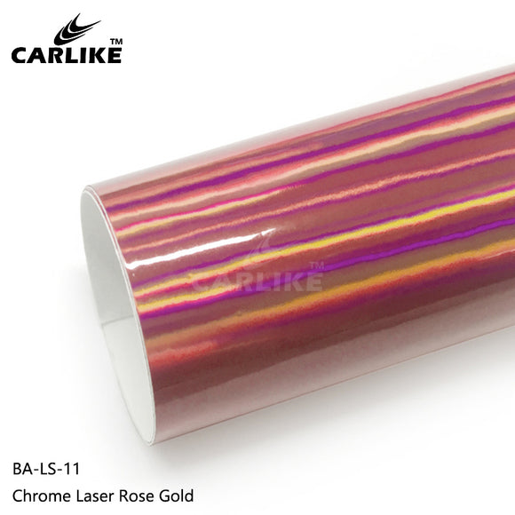CARLIKE BA-LS-11 Chrome Laser Rose Gold Cricut Cutting DIY Craft Vinyl