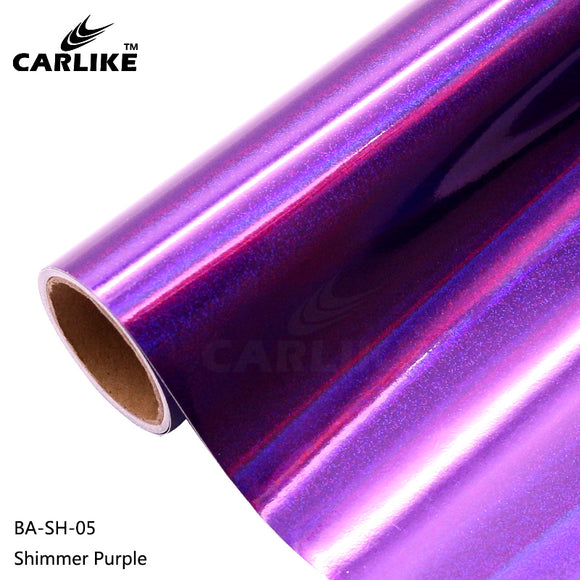 CARLIKE BA-SH-05 Holographic Shimmer Purple Cricut Cutting DIY Craft Vinyl