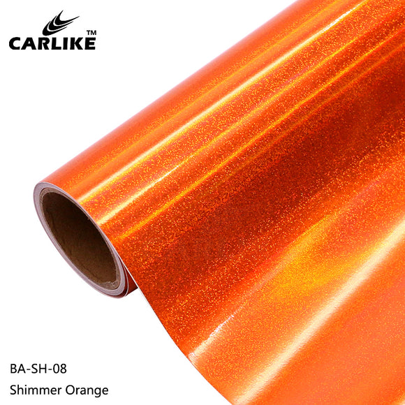 CARLIKE BA-SH-08 Holographic Shimmer Orange Cricut Cutting DIY Craft Vinyl