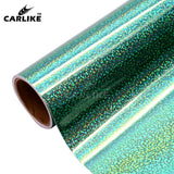 CARLIKE BA-SP-13 Holographic Sparkle Dots Rose Gold Cricut Cutting DIY Craft Vinyl