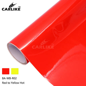 CARLIKE BA-WB-R02 Hot Temperature Color Change Red to Yellow Cricut DIY Craft Vinyl