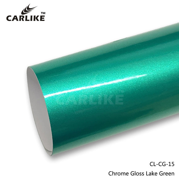 CARLIKE CL-CG-15 Chrome Gloss Lake Green Vinyl