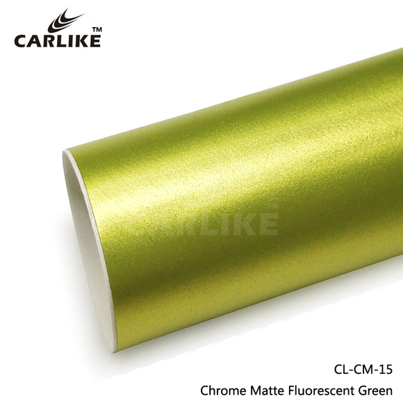 CARLIKE CL-CM-15 Chrome Matte Fluorescent Green Vinyl