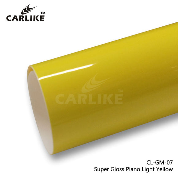 CARLIKE CL-GM-07 Super Gloss Piano Bright Yellow Vinyl