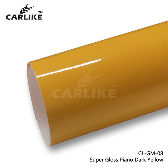 CARLIKE CL-GM-08 Super Gloss Piano Dark Yellow Vinyl