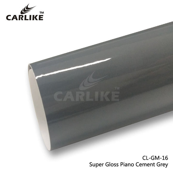 CARLIKE CL-GM-13 Super Gloss Piano Cement Grey Vinyl