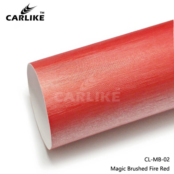 CARLIKE CL-MB-02 Magic Brushed Fire Red Vinyl