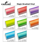 CARLIKE CL-MB-04 Magic Brushed Fluorescent Green Vinyl