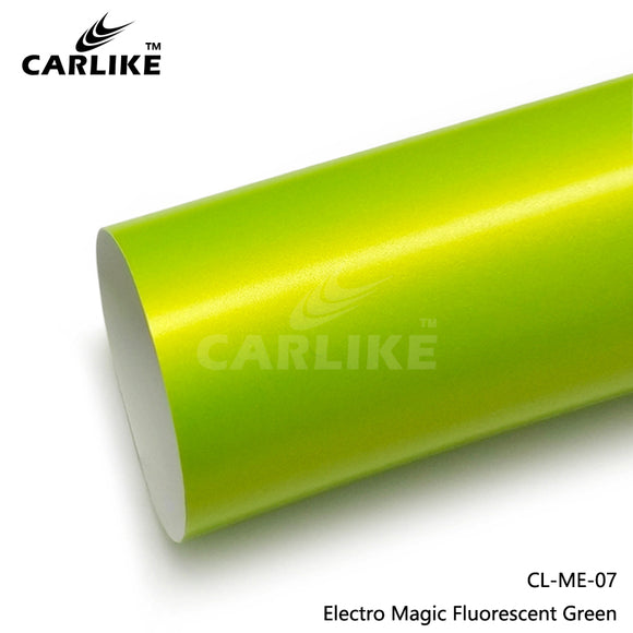 CARLIKE CL-ME-07 Matte Electro Magic Fluorescent Green Vinyl