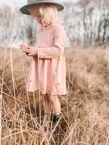 Sweatshirt Dress - Rose