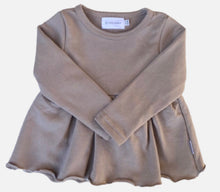 Load image into Gallery viewer, Sweatshirt Peplum Top - Fawn