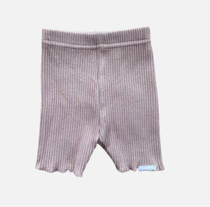 Ribbed Bike Shorts - Dusty Pink