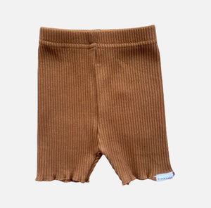 Ribbed Bike Shorts - Golden