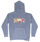 "Very Broke ""Cheers"" Pullover Hoodie- Pigment Light Blue"