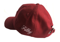 Outline Wool Cap- Red