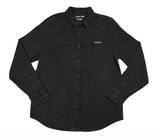 Private Eye Button Up Denim Shirt- Black Wash