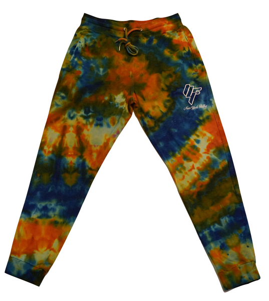 Tie Dye Sweatpants- Blue/Orange
