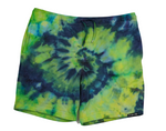 Tie Dye Sweatshorts- Lime/Navy