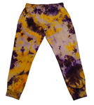 Tie Dye Sweatpants- Purple/Yellow