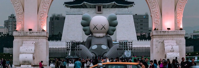 36-meters-long COMPANION in a seated position - KAWS:HOLIDAY TAIPEI
