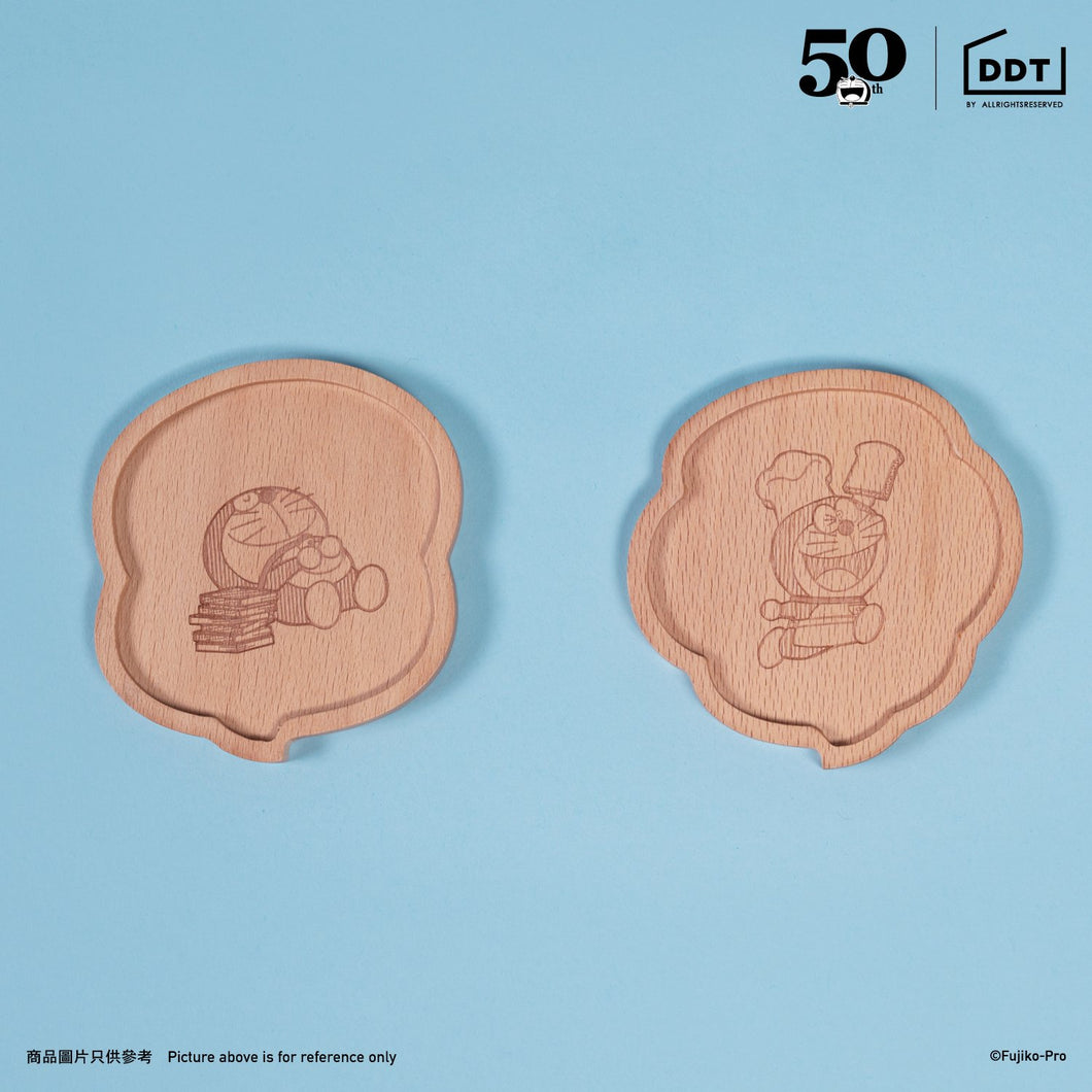 Doraemon Wooden Cup Mat (2-in-1 Set)