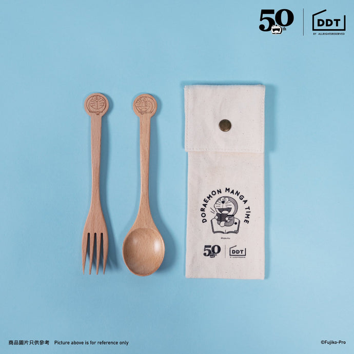 Doraemon Wooden Cutlery (with Cotton Case)