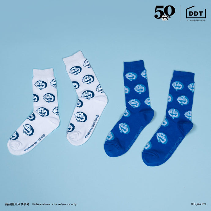 Doraemon Half  Socks (2-in-1 Set)