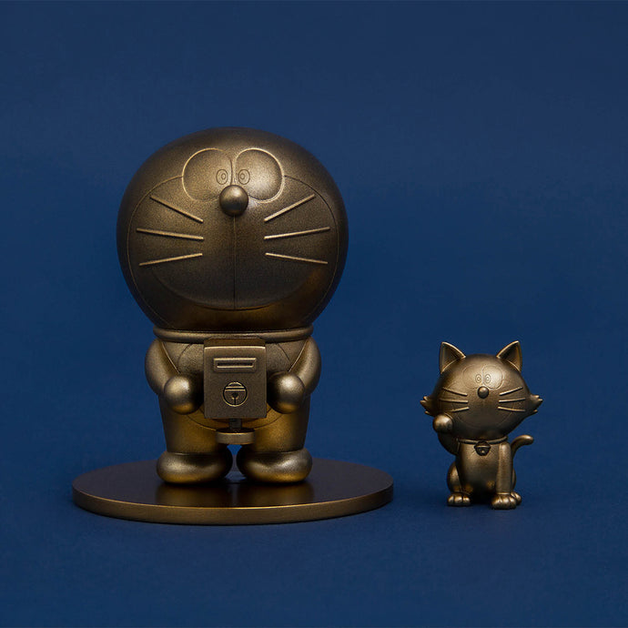 2019 Doraemon cast bronze sculpture & Lucky Cat sculpture
