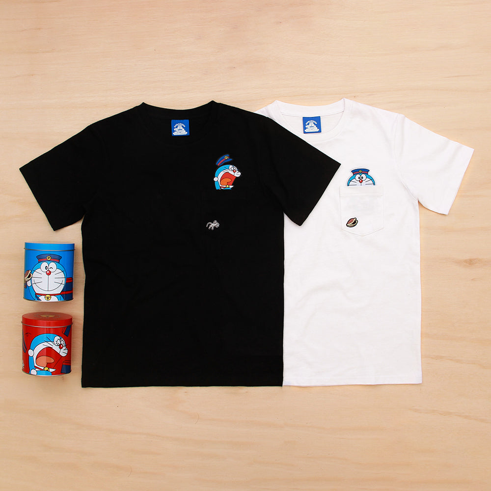 Doraemon Post office Pocket Tee