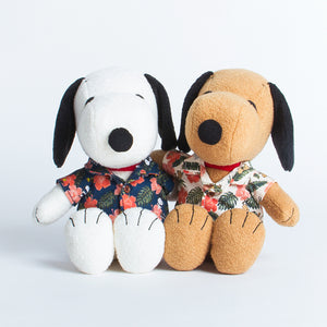 Snoopy Plush & Tanned Snoopy Plush