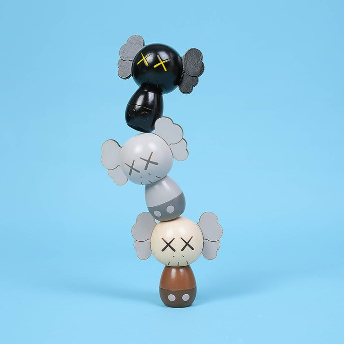 KAWS:HOLIDAY JAPAN Limited Kokeshi Doll Set (Set of 3)