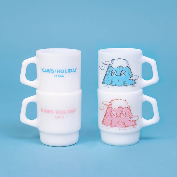 KAWS:HOLIDAY JAPAN Mount Fuji Fire-King Mug Set (Set of 2)