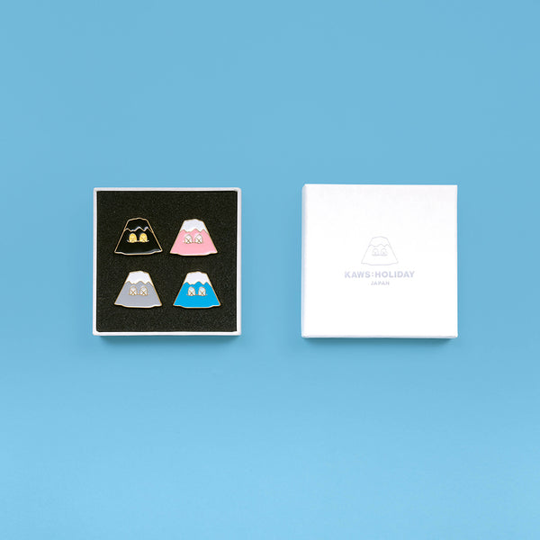 KAWS:HOLIDAY JAPAN Mount Fuji Pin Set (Set of 4)