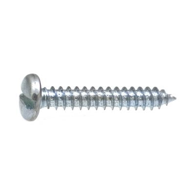 "Auveco No. 1346 12 X 1"" Slotted Pan Head Tapping Screw Zinc AB, Quantity - 100"