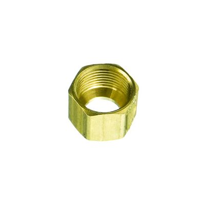 "Auveco No. 110 Brass Fitting Compression Nut 1/8"", Quantity - 10"