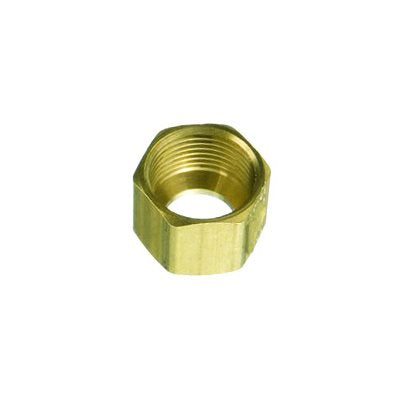 "Auveco No. 112 Brass Fitting Compression Nut 1/4"", Quantity - 10"