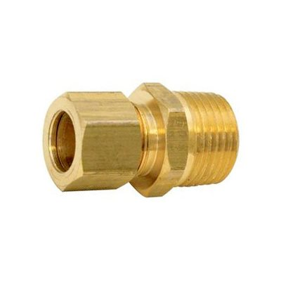 "Auveco No. 119 Brass Male Connector 1/8"" Tube 1/8"" Pipe Thread, Quantity - 5"