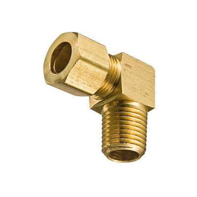 "Auveco No. 159 Brass Male Elbow 3/16"" Tube Size 1/8"" Thread, Quantity - 5"