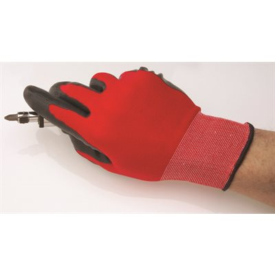 Auveco No. 20694 Strong Hold Gloves Nitrile Coat Micro-Knit - Large, Quantity - 1 PR