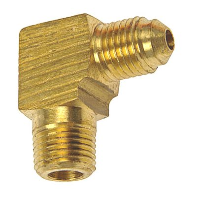 "Auveco No. 230 Brass Male Elbow 1/4"" Tube Size 1/8"" Thread, Quantity - 5"