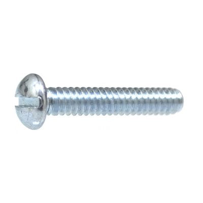 "Auveco No. 2546 12-24 X 1/2"" Slotted Round Head Machine Screw Zinc, Quantity - 100"
