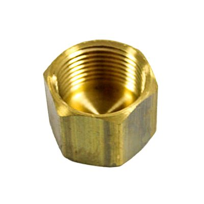 "Auveco No. 287 Brass Cap 1/8"" Pipe Thread, Quantity - 5"