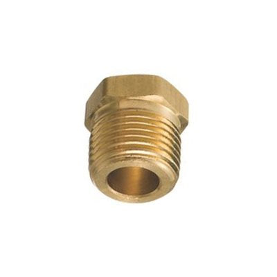 "Auveco No. 296 Brass Hex Head Plug 1/4"" Pipe Thread, Quantity - 5"