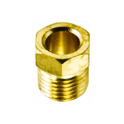 "Auveco No. 30 Inverted Nut Brass 3/16"" Tube Size, Quantity - 10"