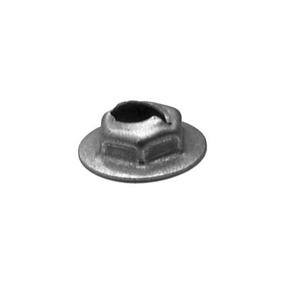 "Auveco No. 3405 Thread Cutting Nut 1/4"" Stud Size 11/16"" Washer Diameter, Quantity - 200"