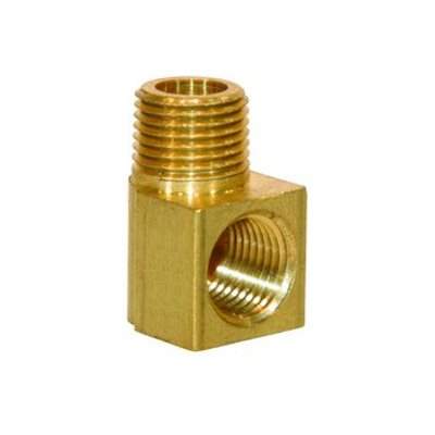 "Auveco No. 344 Brass Street Elbow 3/8"" Internal Thread 3/8"" External Thread, Quantity - 5"