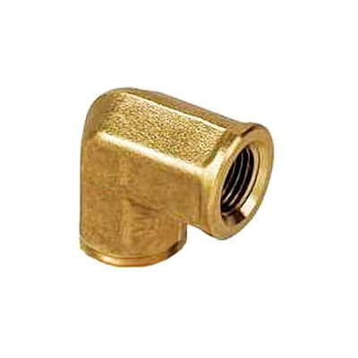"Auveco No. 351 Brass Pipe Elbow 1/4"" Internal Thread 1/4"" External Thread, Quantity - 5"
