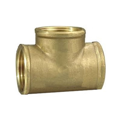 "Auveco No. 355 Brass Tee 1/8"" Pipe Thread, Quantity - 5"