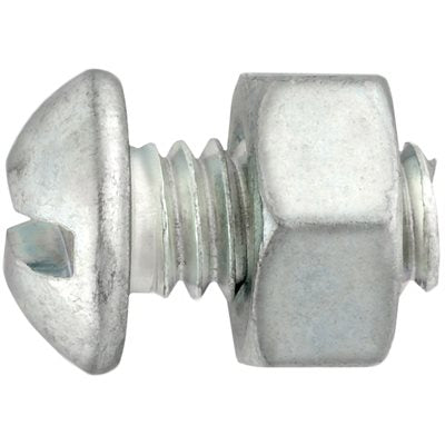 "Auveco No. 3719 Round Head Stove Bolt W/Hex Nut 1/4"" X 3/4"", Quantity - 100"