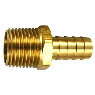 "Auveco No. 424 Hose Barb To Taper Male Pipe 3/16"" Inside Diameter 1/8"" Thread, Quantity - 10"